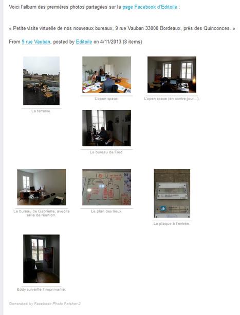 Des photos Facebook sur votre blog avec Facebook Photo Fetcher | Éditoile | Astuces et tuto CMS | Scoop.it