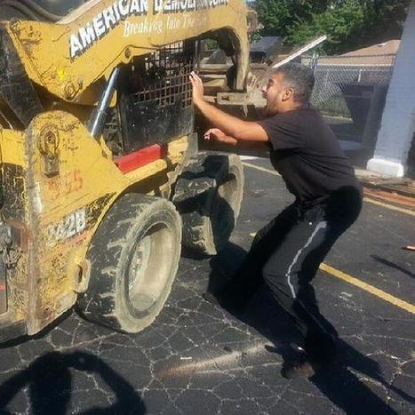 Twitter / prisonculture: A father tries to hold a moving ... | Introducing, Bulldozer! | Scoop.it