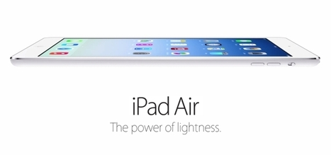 Apple finally unveils the new iPad Air | GADG | social rating - review and compare products | Scoop.it