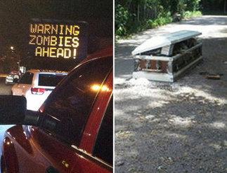 Zombie alert and street coffin highlight a weird week on Staten Island | Strange days indeed... | Scoop.it