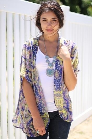 paisley kimono wrap | Online shopping store | Scoop.it