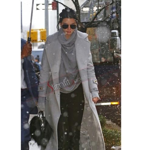 Kendall Jenner Long Coat | Designers Women Leather Jackets & Pants | Scoop.it