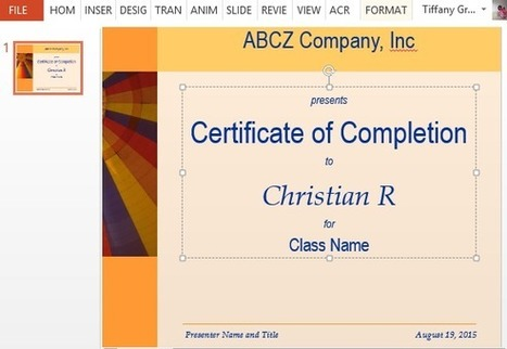 How to Make Printable Training Completion Certificate | Free Microsoft Office Templates | Scoop.it