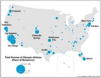 Geographic Travels: Geography of Where American Olympic Athletes Live | Geography | Scoop.it