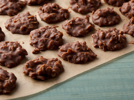 Chocolate Peanut-Butter No Bake Cookies Recipe : Food Network | All Things Cookie Baking | Scoop.it