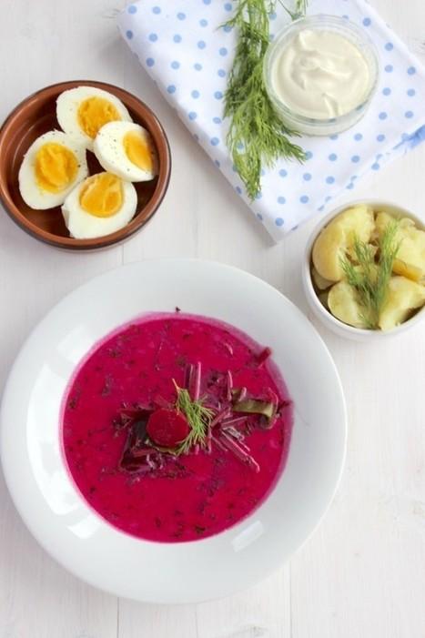 Zupa botwinkowa z młodymi ziemniaczkami z masłem i koperkiem - Widelcem | Kulinaria | Scoop.it
