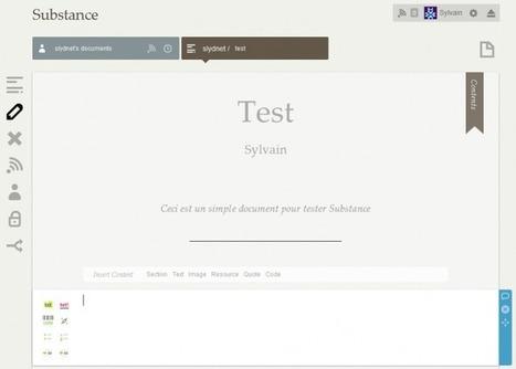 Substance.io – Éditeur de documents collaboratif en ligne gratuit | SlyDnet | collaboratif | Scoop.it