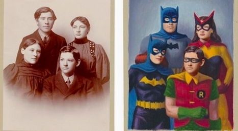 Artist gives old photographs a superhero makeover | Comic Book Trends | Scoop.it