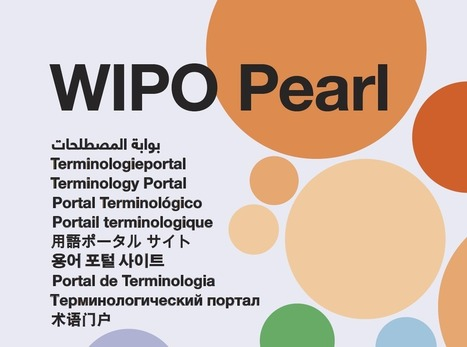 New features and updates for WIPO Pearl | terminology and translation | Scoop.it