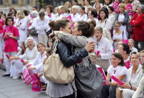 Le baiser lesbien qui laisse sans voix les anti-mariage ♦ #Têtu | #MiAmor ♥ Sexe & diversité : libertés dangereuses ? | Scoop.it