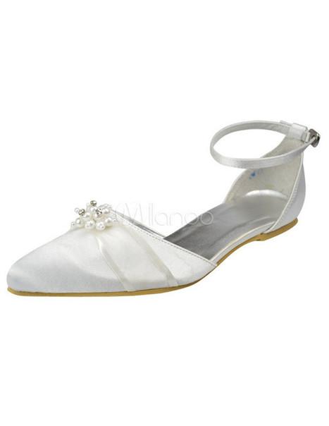 White Satin Beaded Wedding Pumps   Wedding Shoes   Scoop.it