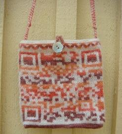 QR Code knitted bag and glove.   SheeptoShawl   VIM   Scoop.it