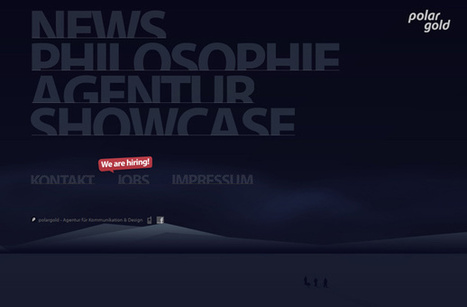 40 Website Layouts Featuring Big Creative Typography - DzineBlog.com   Webdesign Glance   Scoop.it