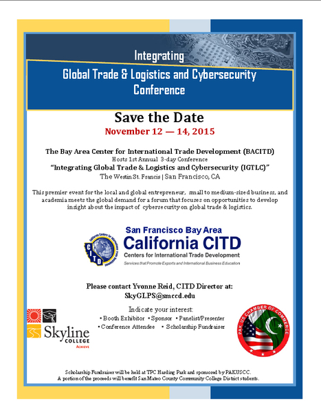 2015 Integrating Global Trade & Logistics Cybersecurity Conference | CITD | International Trade | Scoop.it