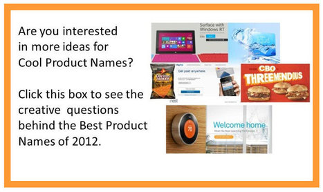 Creating Cool Product Names for a New Product Idea - 8 Creative Thinking Questions | The Brainzooming Group | My Blog 2015 | Scoop.it