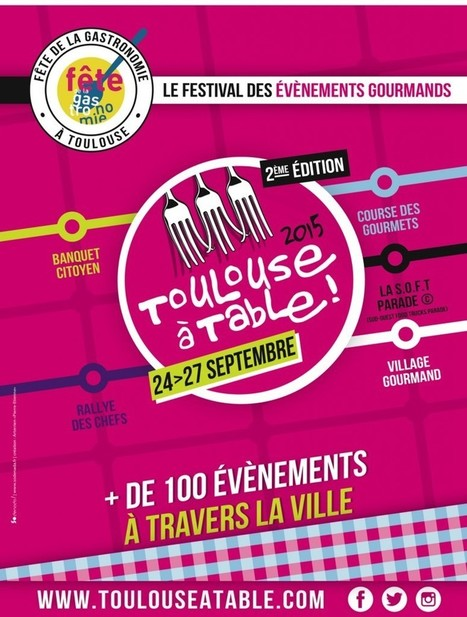 Toulouse se remet à table dès le 26 septembre | Fête de la Gastronomie 23 au 25 sept. 2016 | Scoop.it