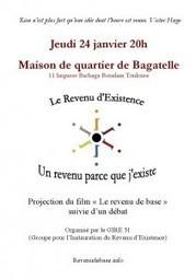 Ciné débat sur le revenu de base à la Maison de quartier de Bagatelle - 24.1.13 | Revenu de Base Inconditionnel - Contributions francophones | Scoop.it