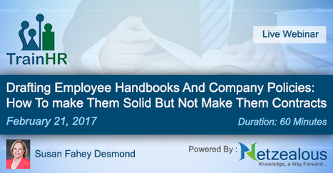 Drafting Employee Handbooks And Company Policies: How To make Them Solid But Not Make Them Contracts   How can HR prevent bullying by seniors at the workplace?   Scoop.it