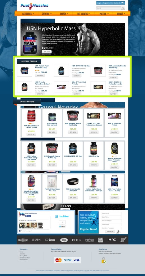Fuel For Muscles | Magento eCommerce CMS Design and Development | Scoop.it