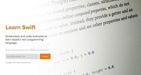 3 recursos para aprender Swift, el nuevo lenguaje de programación de Apple   PENSANDO Y EDUCANDO EN TIC   Scoop.it