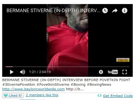 BERMANE STIVERNE  (IN-DEPTH) INTERVIEW  BEFORE POVETKIN FIGHT | Society and culture | Scoop.it
