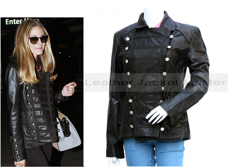 Olivia Palermo Touching Sydney in a Black Sleek Leather Jacket | leather Craze | Scoop.it