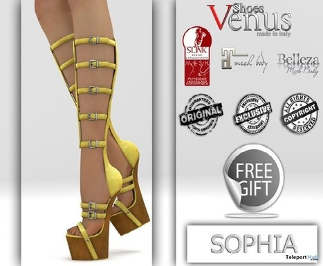 Sophia Boots Group Gift by VeNuS Shoes | Teleport Hub - Second Life Freebies | Second Life Freebies | Scoop.it