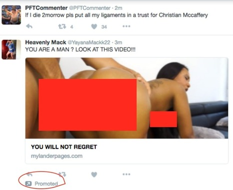 Shoutout To Twitter Straight Up Advertising Porn Now | Social Media Marketing | Scoop.it