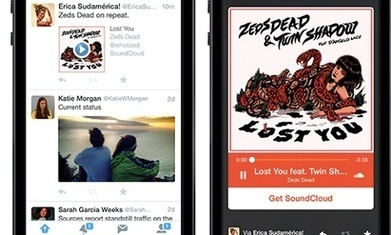 Twitter teams up with SoundCloud and iTunes to play audio within tweets | Tech It | Scoop.it