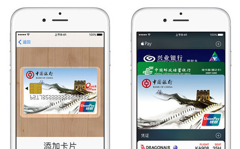 Apple Pay a hit in China with 3 million cards added in 2 days | Mobile Financial Services | Scoop.it