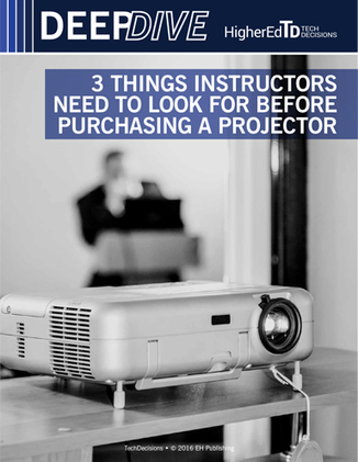 3 Things Instructors Need to Look for Before Purchasing a Projector | Learning Space: Design Matters | Scoop.it