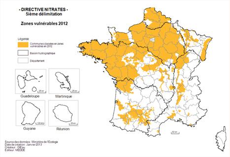 Publication de la carte des zones vulnérables aux nitrates | Toxique, soyons vigilant ! | Scoop.it