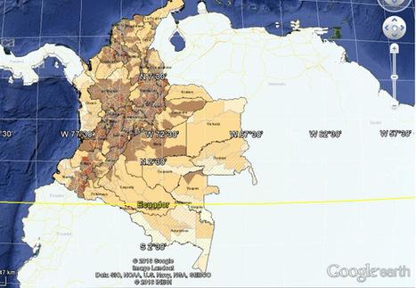 Geoinformación: Descarga la información geográfica de Colombia en formato shapefile del portal del DANE | #GoogleMaps | Scoop.it