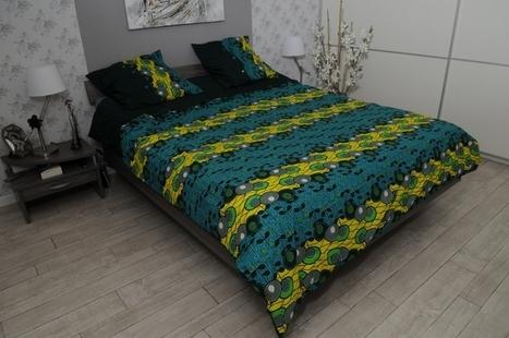 Nom tissus wax pour le linge de lit WaxinDeco | Wax 'n Deco - Linge ... | WaxinDeco | Scoop.it