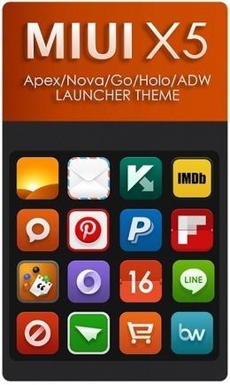 MIUI X5 HD Apex/Nova/ADW Theme v3.3.0 Apk ~ free Android apps and games | free Android apps and games | Scoop.it