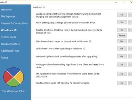 Fix Windows 10 issues with FixWin for Windows 10 | ZDNet | Utilidades | Scoop.it