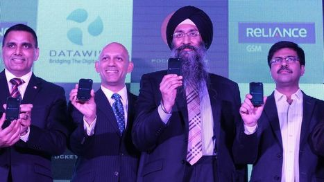 Datawind's $45 smartphone will come with free internet subscription in India | digital divide information | Scoop.it