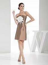 Strapless Mini Taffeta Homecoming Dress with Flower | business | Scoop.it