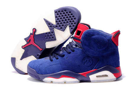 Air Retro 6 Basketball Jordan Shoes Suede:University Red/Blue - Mens | new style | Scoop.it