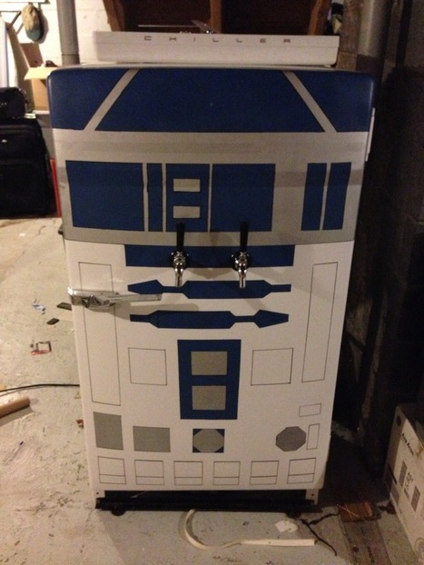 R2-Beer2: Old Fridge Turned Into Star Wars Kegerator | Technobabble | Scoop.it