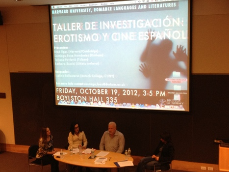 "Barbara Zecchi at the ""Taller de erotismo y cine español"", at Harvard University | The UMass Amherst Spanish & Portuguese Program Newsletter | Scoop.it"