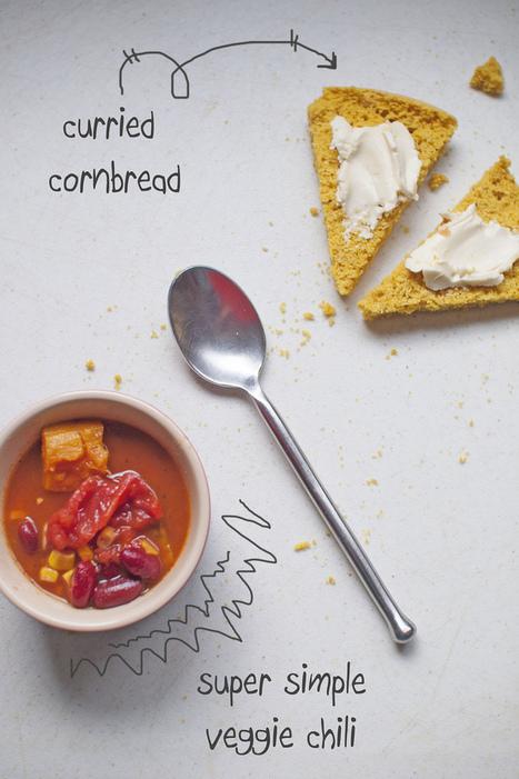 {never} homemaker: Vegan Curried Cornbread | My Vegan recipes | Scoop.it