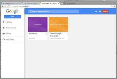 L'ancien gestionnaire de favoris est de retour dans Google Chrome - Actualité Houssenia Writing | netnavig | Scoop.it