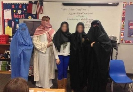 Facebook Photo of Female Students Dressed in Burqas for Lesson ... | The Indigenous Uprising of the British Isles | Scoop.it