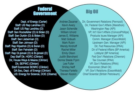 Mapping Out The Revolving Door Between Gov't And Big Business In Venn Diagrams | Coffee Party News | Scoop.it