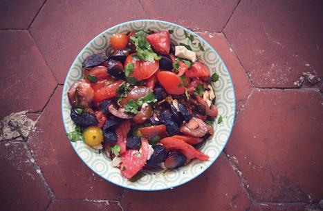 Salade de tomates au chorizo – Recette - madmoiZelle.com | Mynspiration cuisine | Scoop.it