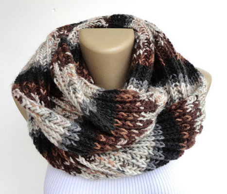 winter men scarf ,knitted unisex scarves ,Cowl ,hood loop ,winter Neck Warmer , women chunky scarves , circle scarf | Winter Fashions | Scoop.it