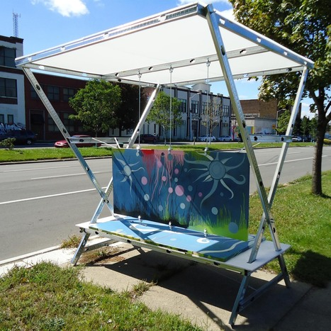 A Detroit designer wants to convert the doors of abandoned homes into colorful, creative bus stops | Detroit Dispatch | Scoop.it