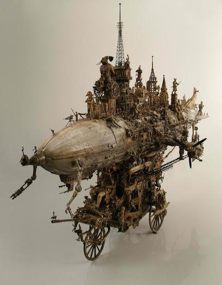 Kris Kuksi's sculptures ~ AMAZING feats of craftmanship. | Steampunkerie | Scoop.it