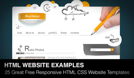 25 Great Free Responsive HTML CSS Website Templates of 2013 | Daily Design Notes | Scoop.it